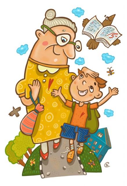 Бабушки и внуки смешные картинки, картинки