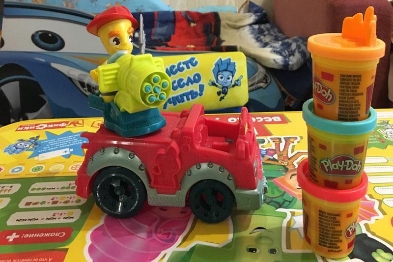 play doh пожарная машина