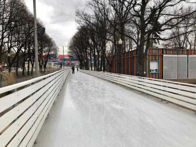 Каток Восход в парке Горького